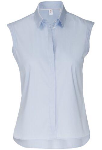 Modern 122604 ricamo Rose senza con braccio Blue 10 Black Fit Blusa in seta 4qPBYO