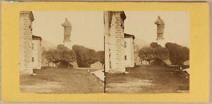 Italia Arona Charles Borromeo Ca 1870 Foto Stereo Vintage Albumina