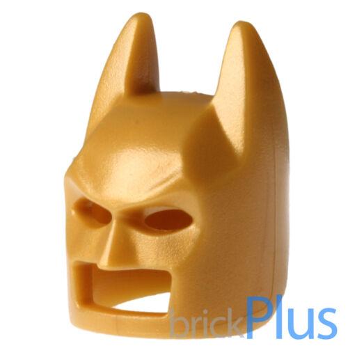 LEGO Pearl Gold Minifig Headgear Mask Batman Type 2 Cowl 6176923 10113