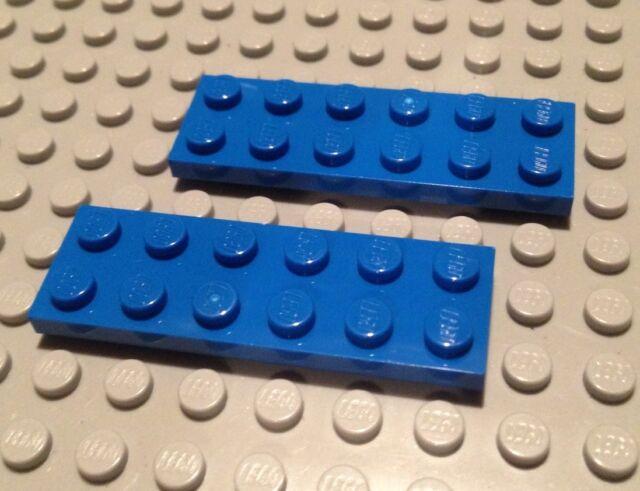 LEGO LOT OF 100 NEW WHITE 2 X 6 DOT PLATES BUILDING BLOCKS PARTS