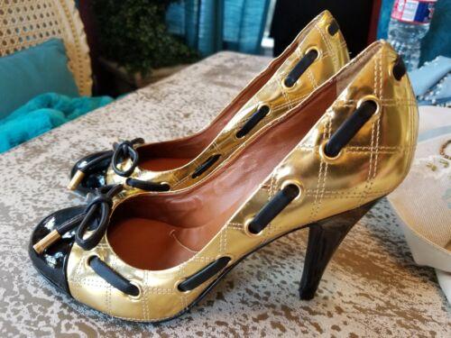 nœud avec Taille Pompes noir 6 Bcbgmaxazria doré à 5 bout cravate en rond bronze à 8da7Sn0