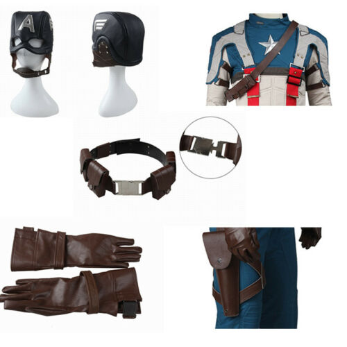 Captain America1 The First Avenger Cosplay Steve Rogers Accessories Props Mask