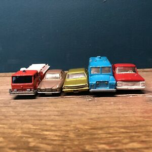 Matchbox-Lesney-Black-Wheel-Job-lot-Of-Five-Models-All-Fair-Conditon-Presentable