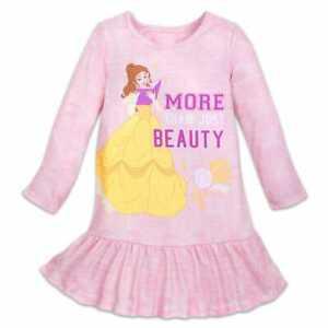 b8c14702c NWT Disney Store Sz 5 6 7 8 9 10 Belle Nightshirt for Girls ...