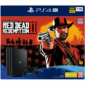 Sony PlayStation PS4 Pro with Red Dead Redemption 2 1TB Black