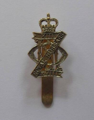 ROYAL HUSSARS // 18th Q//C. 13th BRITISH ARMY CAP BADGE