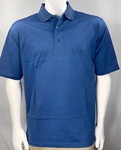NEW-Greg-Norman-Mens-Short-Sleeve-Polo-Shirt-4XL-Royal-Blue