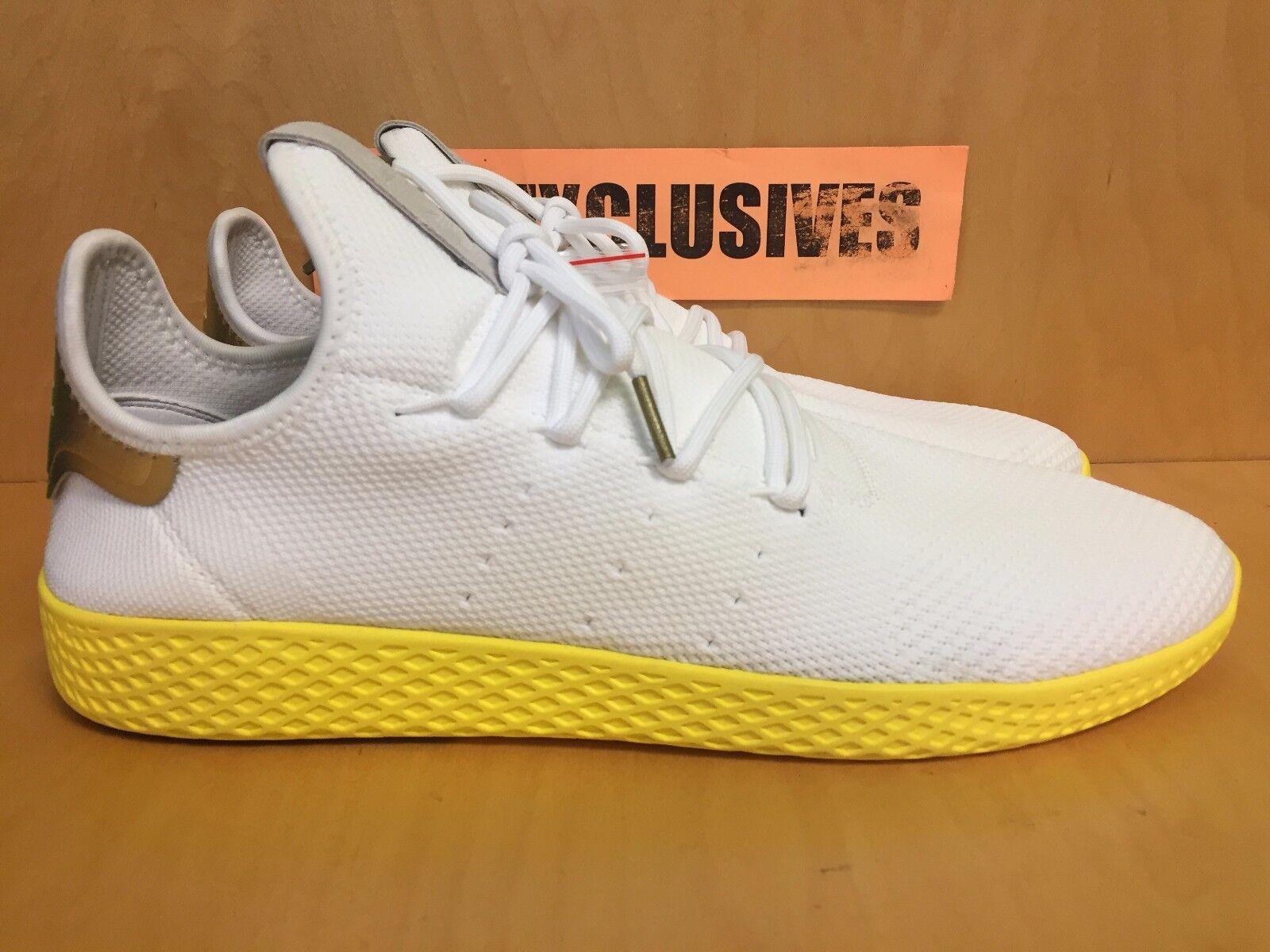 Adidas White Pharrell Williams Tennis HU White Adidas Yellow PW Human Race BY2674 SZ 8-13 6dc378