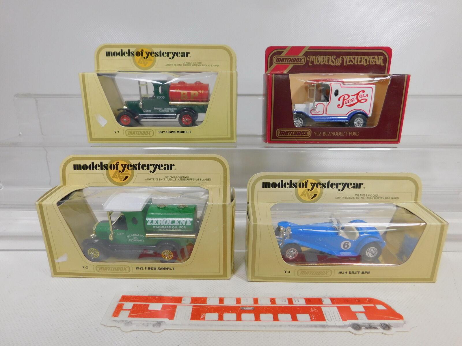Ca184-1  4x MATCHBOX 1 35 Modèle  y-12 PEPSI + y-3 Ford Model T Riley, P. G + neuf dans sa boîte