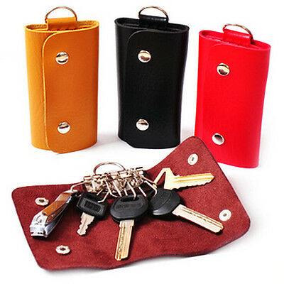 New PU Leather Key Chain Accessory Pouch Bag Wallet Case Key Holder