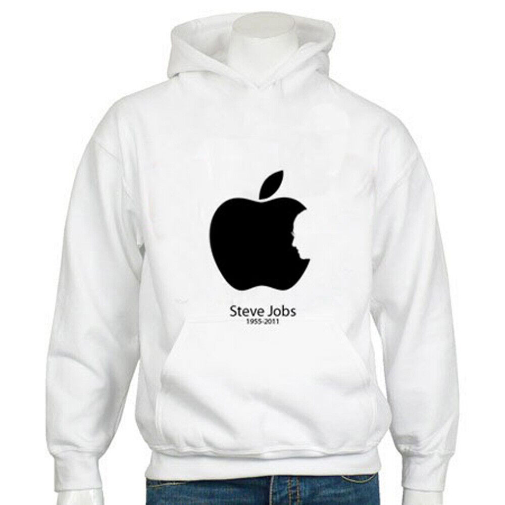 Hoodie tribute  to steve jobs white  quick answers