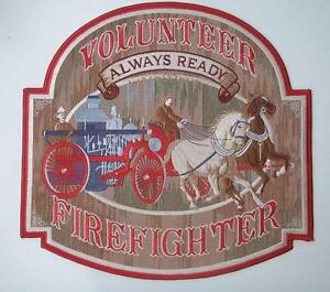 """Volunteer Fire Fighter Always Ready 12"""" Patch"""