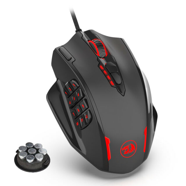e2979023369 Redragon M908 Gaming Mouse Laser RGB Backlight Adjustable 12400 DPI 18  Buttons