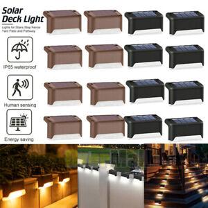 8 Solar LED Bright Deck Lights Outdoor Garden Patio Railing Decks Path Lighting