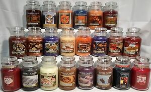 RARE-Yankee-Candle-AUTUMN-WINTER-HOLIDAY-amp-MY-FAVORITE-THINGS-22oz-JARS-RETIRED