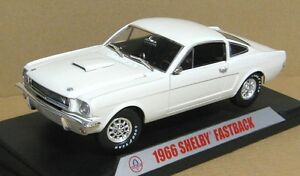 Mustang Gt350 Fastback 1966, collection Shelby blanche, réplique 1/18, modèle moulé