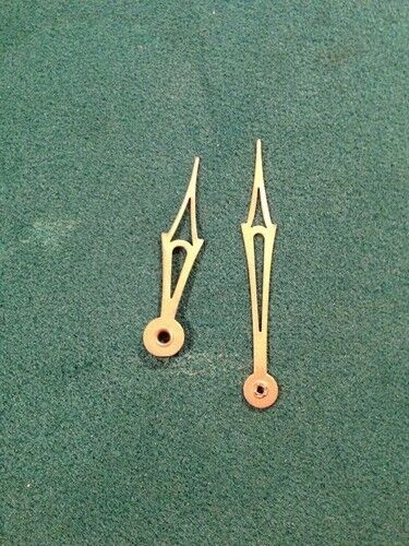 CLOCK HANDS NEW OLD STOCK FOR 6 INCH DIAL GOLD (11)