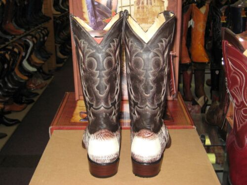 LOS ALTOS NATURAL GENUINE SNIP TOE OSTRICH LEG WESTERN COWBOY BOOT 94E0577 EE