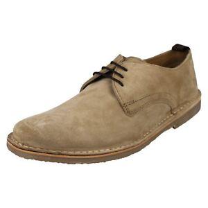 hommes-Benjamin-daim-cuir-lacet-Chaussures-par-Ikon-Prix-de-vente-au-detail
