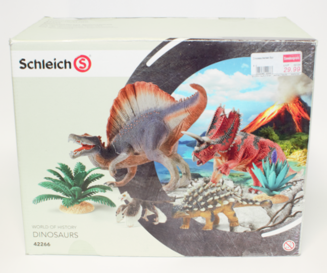 Schleich Schleich Dinosaurs Dinosaurs Dinosaurs Sets 42266 Spinosaurus Set 42281 Velociraptor 20bfaa