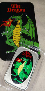 THE-DRAGON-Master-Of-Terror-CMG-MINT-Enameled-999-Silver-Art-Bar-D-amp-D-Dungeons