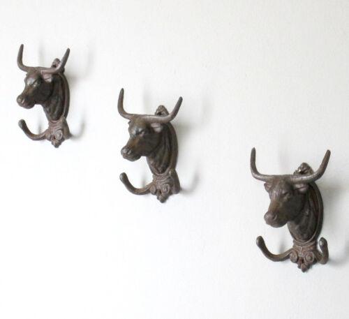 Patère Taureau Patères Vestiaire Wandhaken fonte taureau 16 cm
