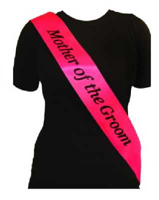 Black And Pink Hen Party Sash