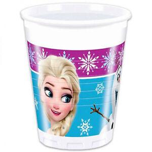 Vasos De de Plástico Oficial Disney Elsa Fiesta De Cumpleaños 40Pz 1405