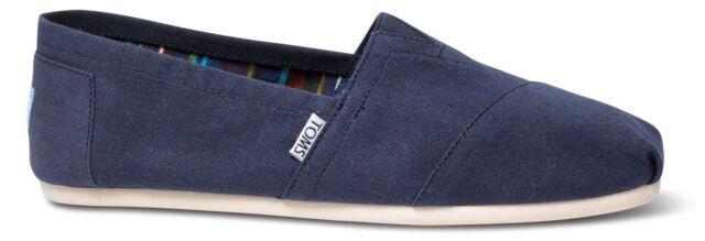 c009934702d Toms Espadrilles Core Classic Plimsolls Mens Navy Canvas Shoes UK 10 ...