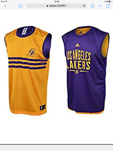 adidas REVERSIBLE, LA LAKERS BASKETBALL SET, ages 7/16 years