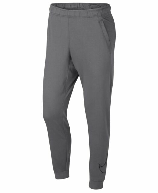 Nike Mens Activewear Pants Gray Size Small S Joggers Drawstring Solid $45 #081