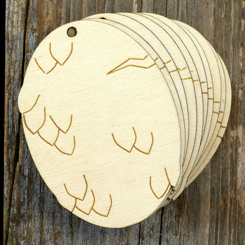 10x Wooden Dragon Egg A Plain Craft Shape 3mm Ply Animals Mythology Fantasy