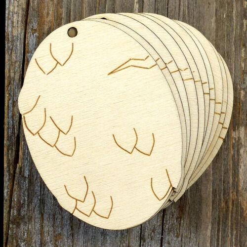 10x Wooden Dragon Egg A Plain Craft Shape 3mm Ply Animals Mythology Fantasy
