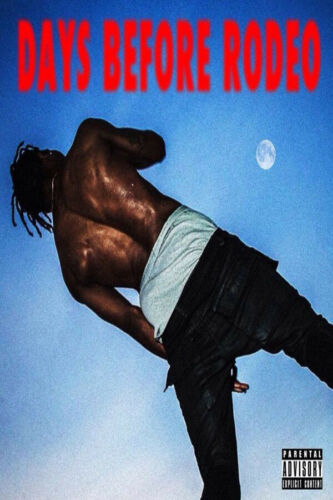 W805 New Travis Scott Days Rodeo Rap Music Album Cover Poster Wall Art Decor