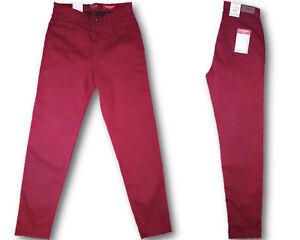 Stooker-Nizza-Damen-Stretch-Jeans-Hose-Tibitan-Red-Tapered-Fit-Trend-2017-18