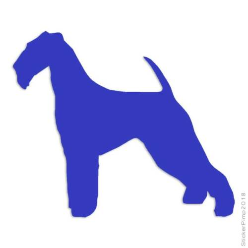 tamanho #1906 Airedale Terrier CГЈo Adesivo Decalque Escolha A Cor