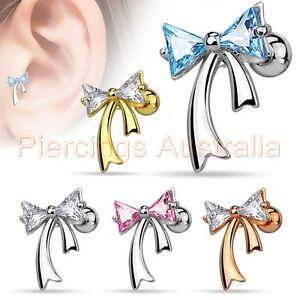 16G-CZ-Ribbon-Cartilage-Tragus-Bar-Ear-Ring-Piercing-Stud-Body-Jewellery