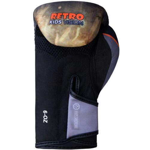 Farabi Retro Kids Boxing Gloves Junior Warrior Series Training Bag Pads Workout