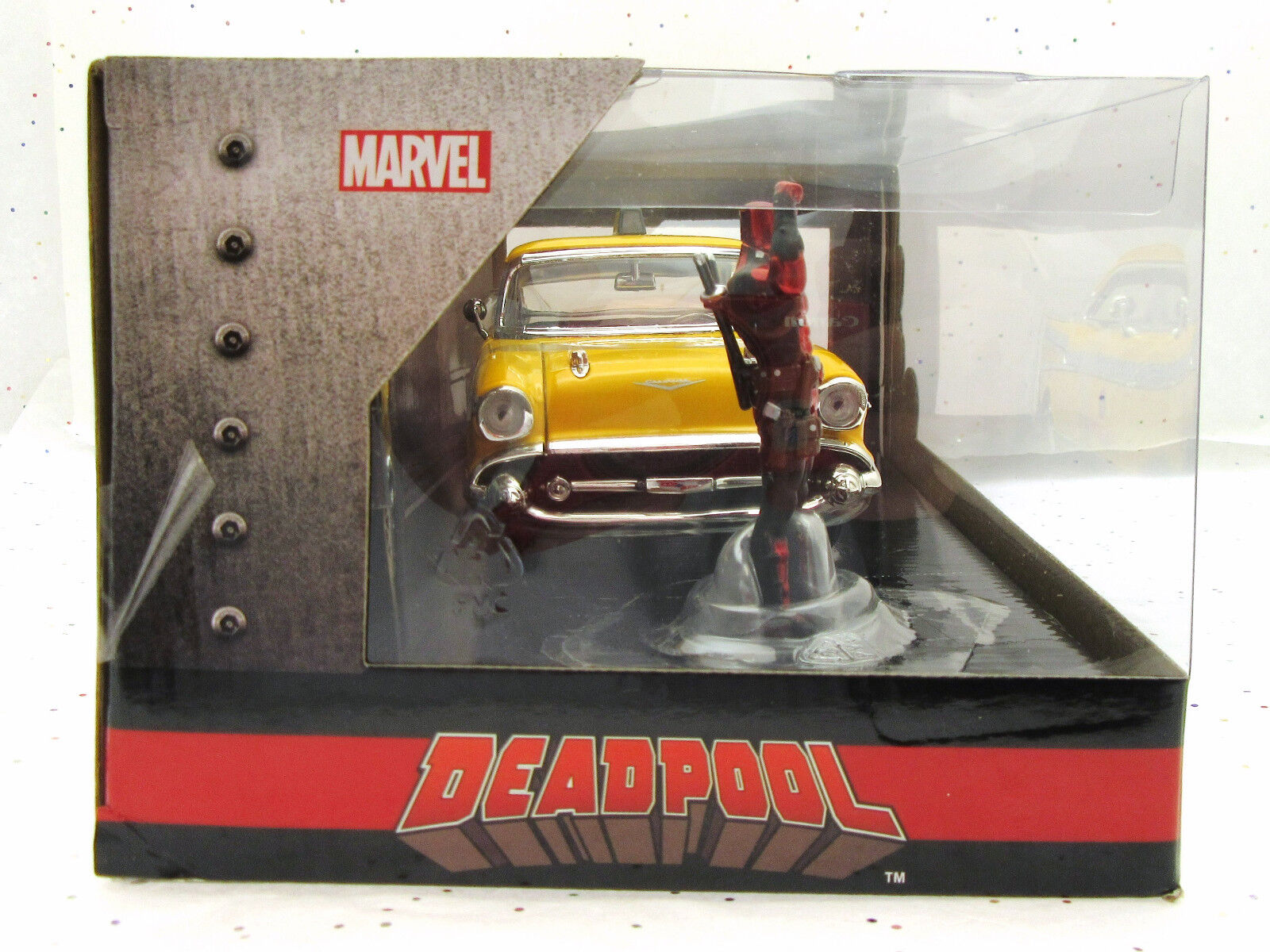 Deadpool  57 57 57 Chevy Bel Aire Taxi  Metálicos Diecast Coche  Marvel 072193