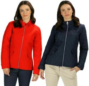 REGATTA-WOMENS-LADIES-CRESSIDA-QUILTED-JACKET-NAVY-BLUE-or-RED-RWN132
