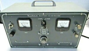 Heathkit-Battery-Eliminator-Model-BE-4-with-cables