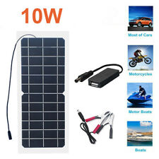 Solar Panel 10watt 10w Trickle Charge Battery Charger Kit Battery Maintainer Us