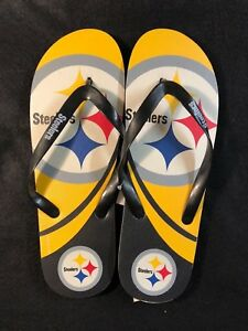 f242a3408995d Details about Forever Collectibles NFL Pittsburgh Steelers Unisex Flip Flop  Sandal