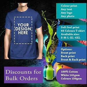 Customised-Personalised-Custom-Printed-T-Shirt-Men-Women-Stag-Hen-Kids-photo-Tee