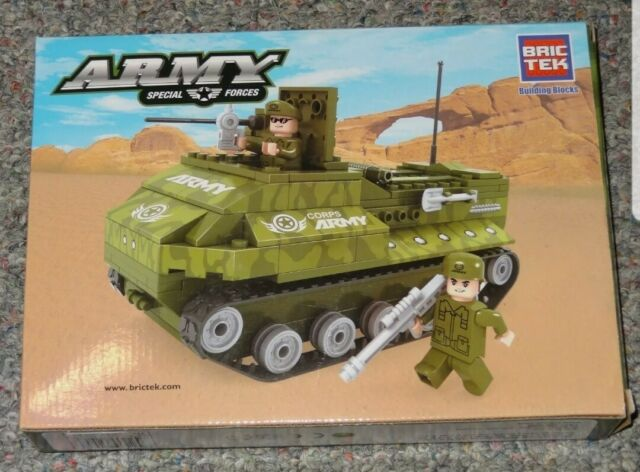 Army T-80-U Tank BricTek Building Block Construction Toy Military Brick 25007