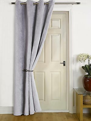 """Sydney"" Thermal Door Lined Winter Curtain Energy Saving, Reduces Heat Loss"