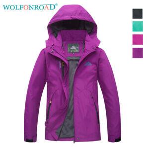 Waterproof-Parka-Women-039-s-Outdoor-Mountain-Jackets-Hooded-Sportswear-Raincoats
