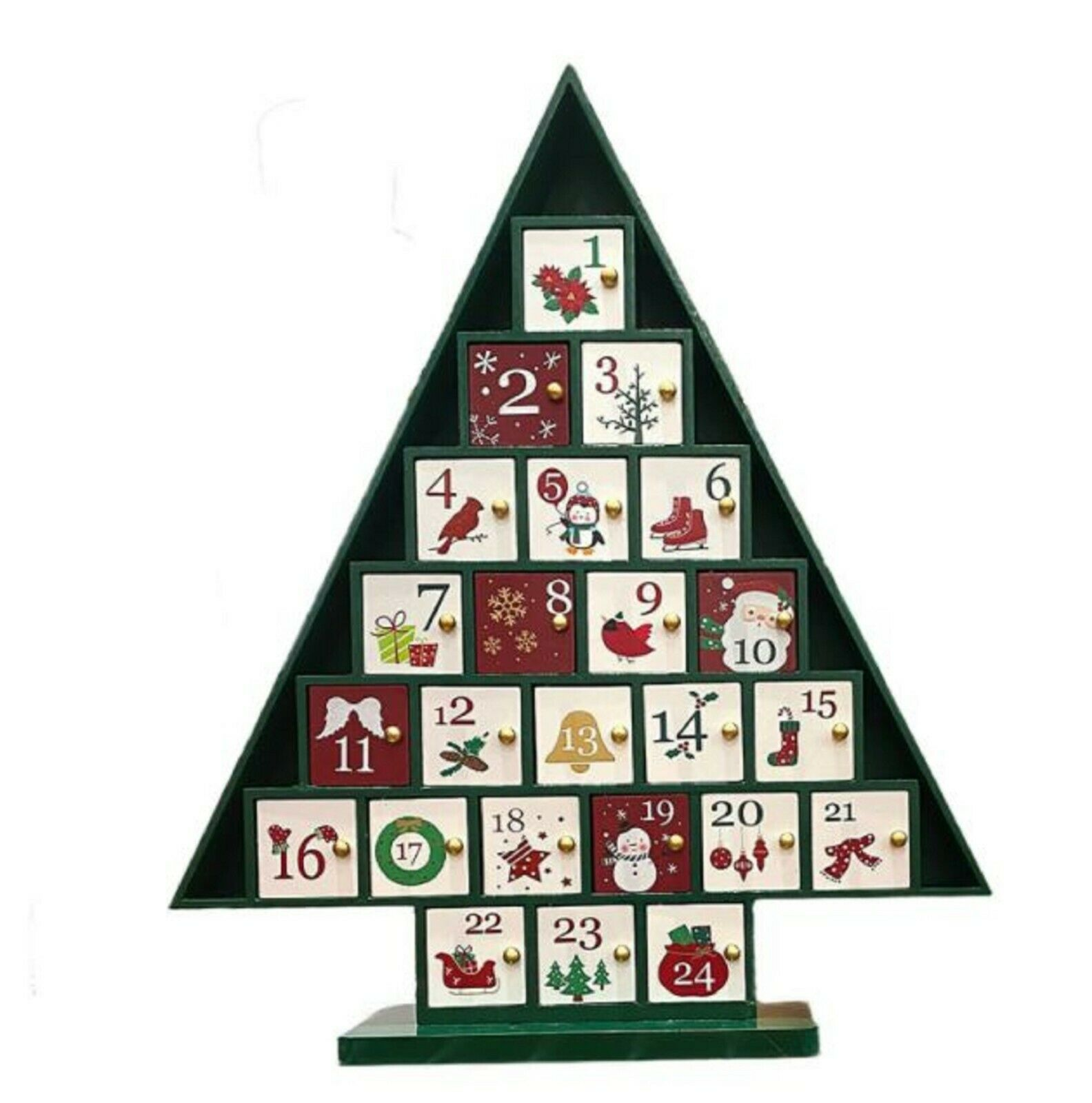 Wooden Christmas Tree Advent Calendar For Sale Online Ebay