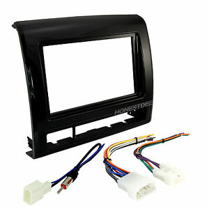 TACOMA CAR STEREO DOUBLE/2/D-DIN CHARCOAL RADIO INSTALL DASH KIT CMBO 95-8235CHG