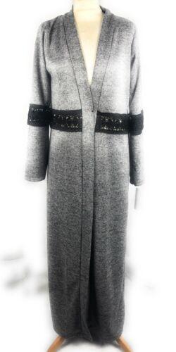 Damer Jilbab Stort Mørk Blå Kvinder Grå Vinter Cardigan Grå Tøj Grå Frakke Abayas Lang Modest ppa4q